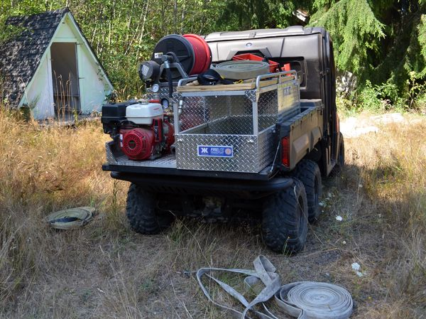 One of the fire district's utility terrain vehicles for restricted and or difficult access areas