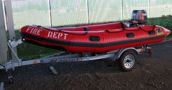 Boat used for emergency water rescues